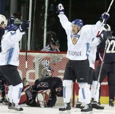 Ice Hockey: Finland eliminates U.S.  Finland 3 United States 2 FINAL  Finnish forward Jesse Joensuu's winning goal with nine seconds left lifted Finland past the United States 3-2 Thursday for a place in the semifinals of the hockey world championships.  keepinitrealsports.tumblr.com  keepinitrealsports.wordpress.com