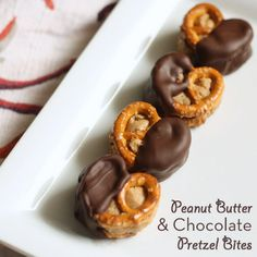 Peanut Butter and Chocolate Pretzel Bites - Yields about 40 to 50 Pretzel Bites