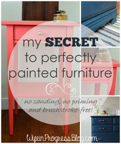 secret to perfectly painted furniture - Velvet Finishes