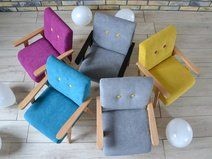 Fotelik dla dziecka - MINI MODELINI Yellow+emerald