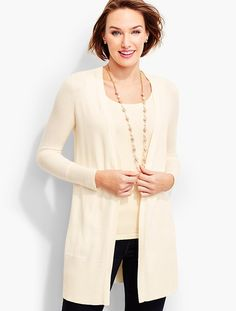 Long No-Close Cardigan - Talbots
