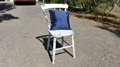 Antique chair // Wooden chair // Beach decor // Shabby chic // Distressed finish // Bedroom chair // Country // Kitchen chair //Housewarming by BornAgainBargainsCo on Etsy
