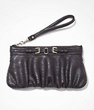 RUCHED DOUBLE BUCKLE WRISTLET