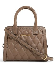 Taupe Quilted Natalie Crossbody Bag by Vera Bradley