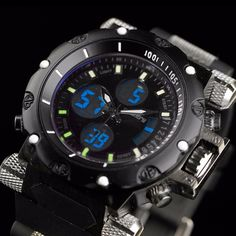 Infantry Mens Digital Quartz Wrist Watch Sport Army Chronograph Pilot Rubber Us