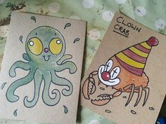Send a hand drawn postcard to a friend or yourself by BeckyDraws, $2.00