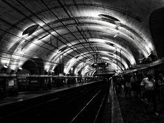 The black hole #Termini #Rome #Metro #BlackAndWhite