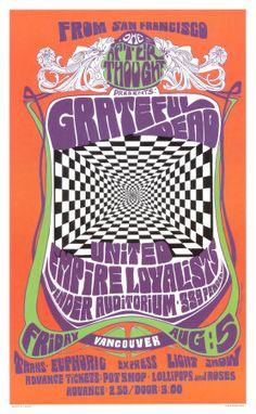 grateful dead in concert 1966. poster art by bob masse