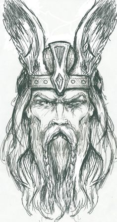 Odin Crayon Drawing Sketch - Odin Sketch By Plunderedpsyche Vikingos Dibujos Tatuaje Nordico Descendant Of Odin By Deviantart Com On Deviantart Thor Avengers Infinity . Norse Tattoo, Viking Tattoos, Thai Tattoo, Maori Tattoos, Tattoo Symbols, Tribal Tattoos, Art Viking, Viking Woman, Viking Drawings