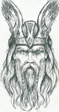 odin | Odin Sketch by PlunderedPsyche | Drawing tutorials | Pinterest ...
