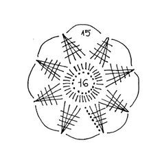snowflakes crochet 127