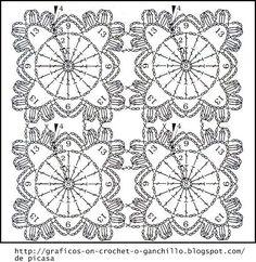 PATRONES - CROCHET - GANCHILLO - GRAFICOS: GRANNYS PARA TEJER A CROCHET CON SUS PATRONES