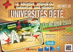Universités d'Eté de la Fédération Nationale des Etudiants en Soins Infirmiers 2013 à Carcans. Du 13 au 16 juin 2013 à Carcans.