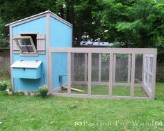 Ana White | Build a Chicken Coop Run for Shed Coop |
