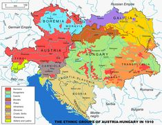 Austrian-Hungarian Empire 1867–1918: Ethnic groups map 1910: Empire of Austria…
