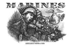 Happy Birthday Marines! Dedicated to one of the best military fighting forces in the world. Semper Fi!