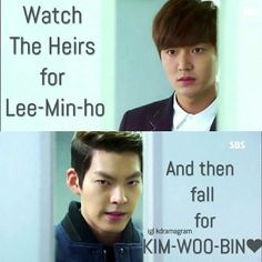 I watch heirs because of lee min ho but fall for kim woo bin and recently watch the drama uncontroll Heirs Korean Drama, Korean Drama List, Korean Drama Funny, Watch Korean Drama, Korean Drama Quotes, Korean Dramas, Korean Actors, Asian Actors, Ver Drama
