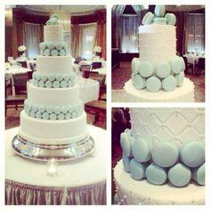 Our custom made cake for a beautiful wedding!  #Soirette #macaron #macaroncake #wedding #weddingcake