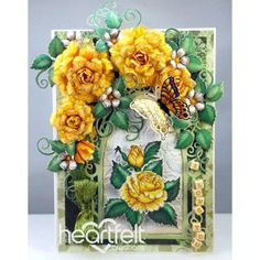 Yellow Classic Rose - #HeartfeltCreations #cardmaking #papercraft #scrapbooking #paperflowers #Easter #spring