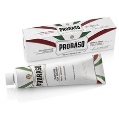 Proraso Green Tea Oatmeal Scented Sensitive Skin Vegan Shaving Cream Tube: The Proraso sensitive shaving cream has fresh notes of lime and apple and is suitable for sensitive skin that irritates easily. Providing a rich, creamy lather and is best used with a shaving brush within a wet shave daily routine. A single tube will last approximately 6 months when used on a daily basis. Contains: no parabens, silicons, or mineral oils. Vegan. Made in Florence, Italy.