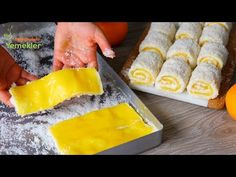 BU KIŞA DAMGASINI VURACAK PORTAKALLI SARAY LOKUMU ✅ KOLAYCA SARILAN SARAY SARMASI TARİFİ 💯 - YouTube 5 Ingredient Desserts, Cake Recipes, Dessert Recipes, Cake Videos, Arabic Food, Turkish Recipes, Party Desserts, Easy Snacks, Granola