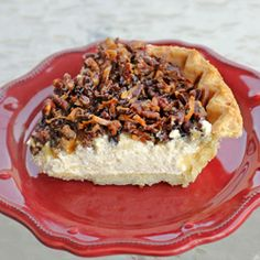 Pecan Cream Cheese Pie that can be made under 20 minutes. Toasted pecans, coconut, and cream cheese.