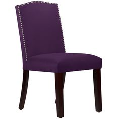 Made to Order Purpole Nail Button Arched Dining Chair - Overstock™ Shopping - Great Deals on Dining Chairs