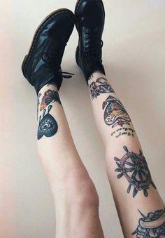 Imagem de tattoo, grunge, and legs
