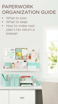 #TaxDay is like New Year's - a good time to make resolutions and start over. Learn what to toss, what to keep, and how organizing your paperwork will make filing next year a breeze. #MarthaStewartHomeOffice #Staples #organizing #springclean #affordable