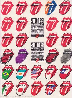 The Rolling Stones Lengua Rolling Stones, Rolling Stones Logo, Rolling Stones Tattoo, Pop Art, Rock Y Metal, Alcohol Is A Drug, Stone Wallpaper, Rock Posters, Arte Pop