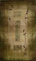 Contemporary green floral design area rug Generations 544G1 $40.00 from selectrugs.com