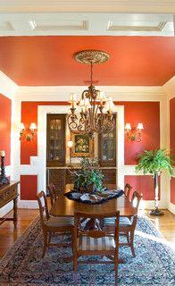 Medallion Look Orange Dining RoomDining