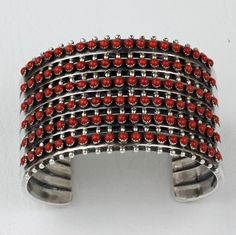 Paul Sivingston - Sterling Silver Cuff Bracelet - Native American Jewelry - Leota's Indian Art is home to renowned Native American jewelry artists. Sterling Silver Cuff Bracelet, Silver Drop Earrings, Silver Bracelets, Silver Ring, 925 Silver, Bangles, Vintage Silver Jewelry, Coral Jewelry, Western Style