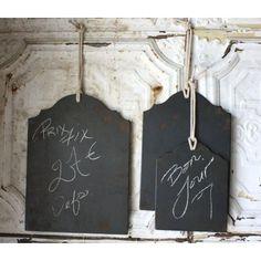 Set of Three Chalkboard Panels: Furniture & Decor
