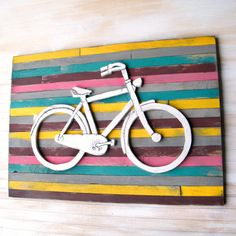 Wooden Bicycle Art Pallet Background Wall Decor Wooden Bike Sign Bicycle Art