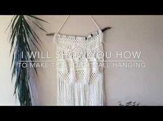 DIY | como hacer macrame decoracion pared | tapiz - YouTube