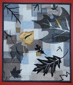 Gold leaf by Gale Wessel.  Created in a Maggie Weiss workshop. Fused sheer silks. 2009 FAOF exhibit