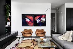 Dark Blue Walls, Australian Interior Design, Custom Mirrors, Al Fresco Dining, Color Tile, Apartment Interior, Luxury Living, Old And New, Interior Architecture