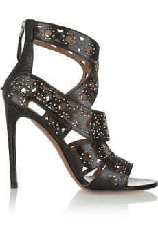 Ala�a Studded cutout leather sandals    THE OUTNET