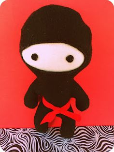 who knew ninjas could be cute. wish i had time to make these for H's birthday party. via rookno17