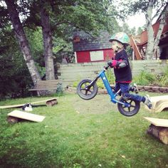 My son on his Strider Bike. No fear!