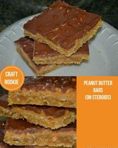 Craft Rookie: Peanut Butter Bars
