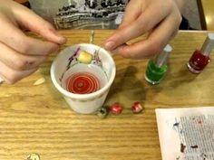 An easy craft for teens using nail polish.