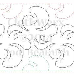 Expression - Paper - Quilts Complete - Continuous Line Quilting Patterns Quilting Stitch Patterns, Machine Quilting Patterns, Quilt Stitching, Quilt Patterns Free, Machine Embroidery, Quilting Stencils, Quilting Templates, Longarm Quilting, Free Motion Quilting