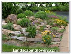 Rock Garden Designs Landscaping Ideas for Front Yard – With unpredictable weather patterns and the business of lifestyles, the traditional garden and the maintenance that comes along with it is starting to lose its appeal. With that in mind, t Landscaping With Rocks, Front Yard Landscaping, Backyard Landscaping, Landscaping Ideas, Backyard Ideas, Patio Ideas, Sloped Backyard, Sloped Garden, Tropical Landscaping