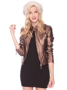 leather jacket perfect for the holidays