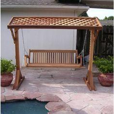 Teak Veranda Porch Swinging Bench With Canopy Teak