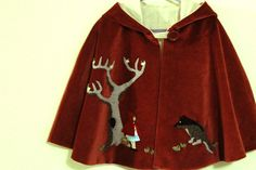 """This is amazing! Handmade """"Little Red Riding Hood"""" cape. Just gorgeous for my own """"little red"""""""