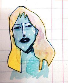 Chica azul