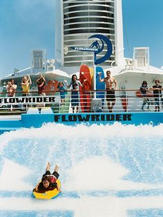 Flowrider on the  Independence of the Seas...looks like so much fun!  Our new home (for a week) in 33 days!!